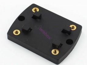 Adapterplatte zur Schraubbefestigung mit M4 Gewindeeinsätzen für HR Richter 4-Loch-Rastsystem