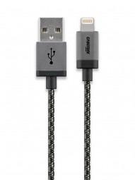 Cabstone iPhone Lightning USB Lade- und Syncronisationskabel mit Textilummantelung und Metallstecker