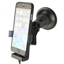 Apple iPhone 7 / 6s / 6 Cover Handyhalterung, Halterung mit Ladefunktion inkl. Scheibenhalterung