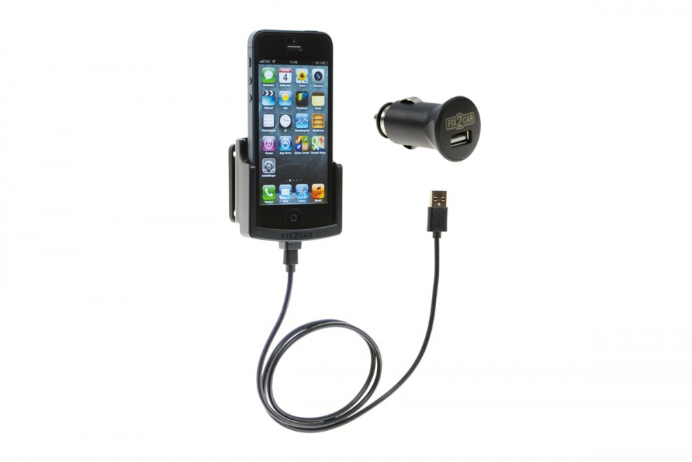 iphone 5 5s fix2car aktive handyhalterung lade halterung. Black Bedroom Furniture Sets. Home Design Ideas