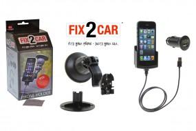 iPhone SE / 5 / 5s Fix2Car aktive Handyhalterung, Lade-Halterung mit Saughalterung