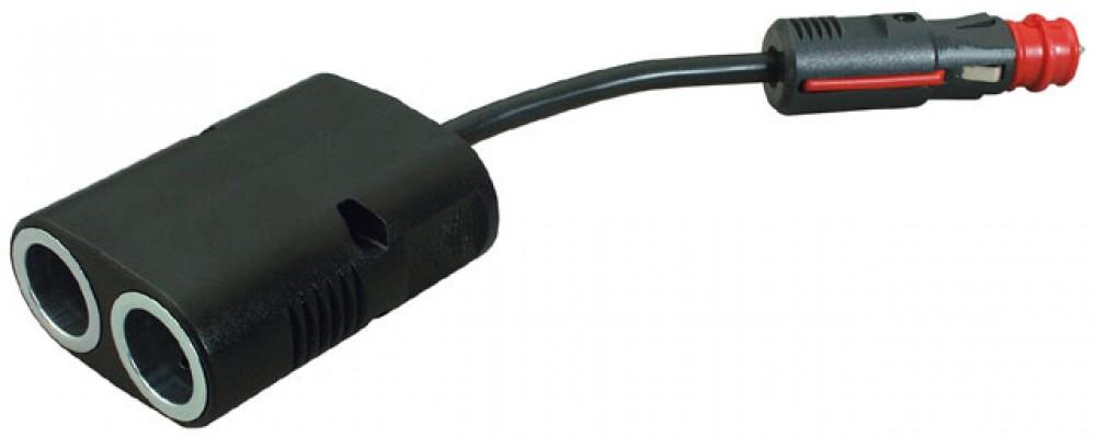 zigarettenanz nder 2 fach power verteiler f r 12 24 volt. Black Bedroom Furniture Sets. Home Design Ideas