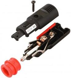 Zigarettenanzünder Stecker für 12-24 Volt bis 16A mit Zwangs-Zugentlastung und Adapterhülse Normstec