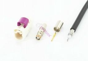 telebox Fakra (f) female Antennen Stecker Code B